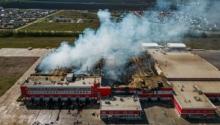 Incendie de bâtiment industriel classé en zone Atex